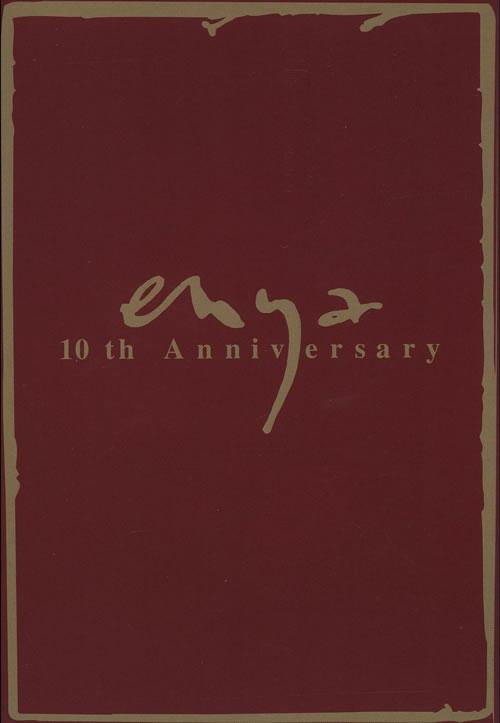Enya 10th Anniversary 1991 Japanese handbill PROMOTIONAL HANDBILL