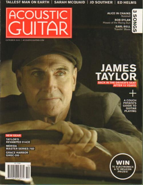 James Taylor Acoustic Guitar   October 2015 2015 UK magazine OCTOBER 2015