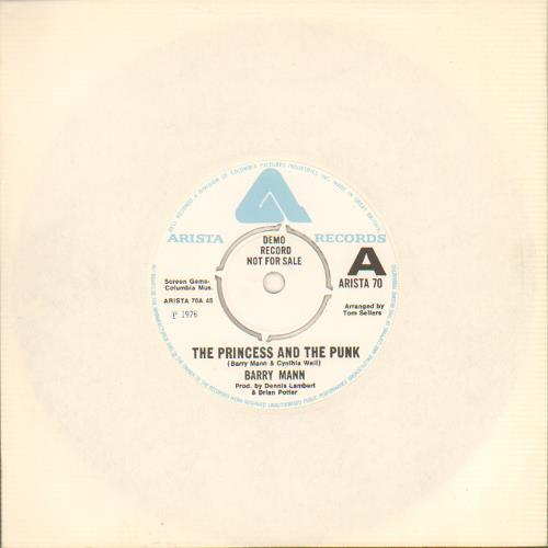 Mann, Barry - The Princess And The Punk - A Label