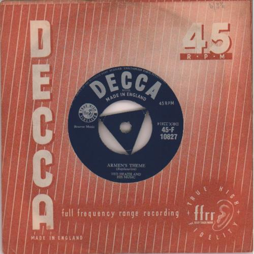 Ted Heath Armens Theme  Triangular 1957 UK 7 vinyl 45F10827