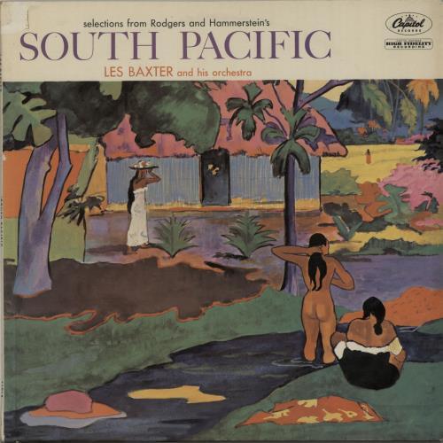 Les Baxter South Pacific 1959 UK vinyl LP T1012