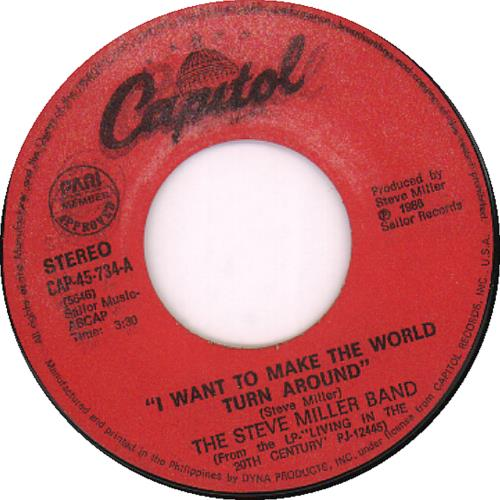 Steve Miller Band - I Want To Make The World Turn Around CD