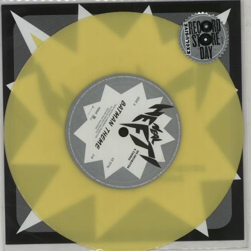 "Image of Batman & Robin Batman Theme - Yellow Vinyl 2015 UK 7"" vinyl 88875192347"