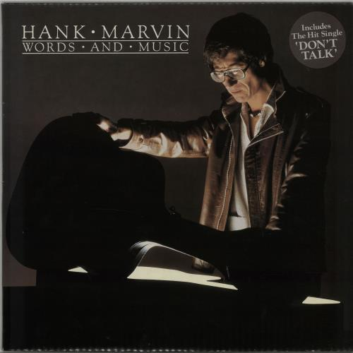 Hank Marvin Words And Music - Autographed 1982 UK vinyl LP POLD5054
