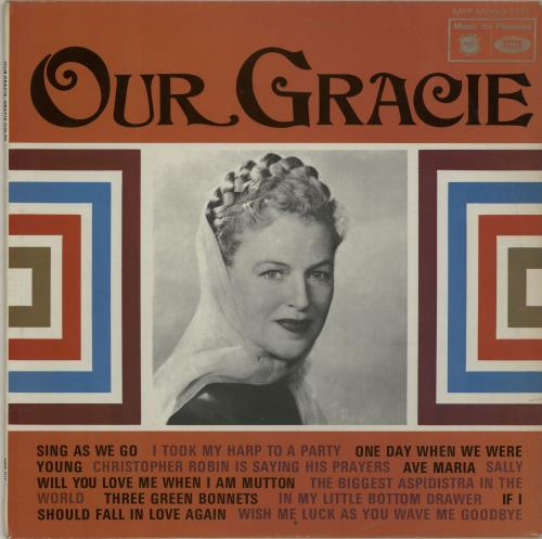 Gracie Fields Our Gracie 1967 UK vinyl LP MFP1212
