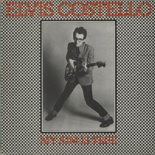 Elvis Costello My Aim Is True  Green back cover 1977 UK vinyl LP SEEZ3