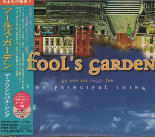 Fools Garden Go & Ask Peggy For The Principal Thing 1997 Japanese CD album TOCP50266