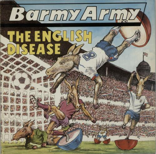 Barmy Army The English Disease 1989 UK vinyl LP ONULP48