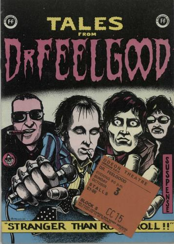 Dr Feelgood Tales From Dr Feelgood  Ticket Stub 1975 UK tour programme TOUR PROGRAMME