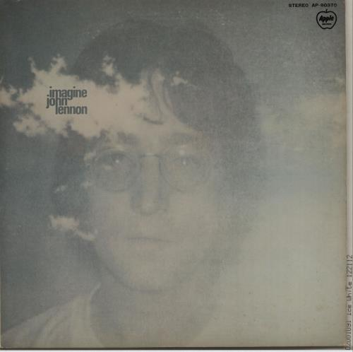 John Lennon Imagine  Black Vinyl 1971 Japanese vinyl LP AP80370