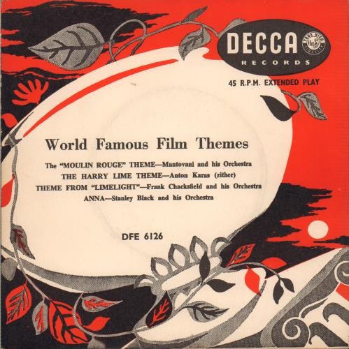 VariousFilm Radio Theatre & TV World Famous Film Themes 1955 UK 7 vinyl DFE6126