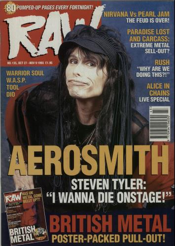 Image of Aerosmith Raw No.135 1993 UK magazine RAW