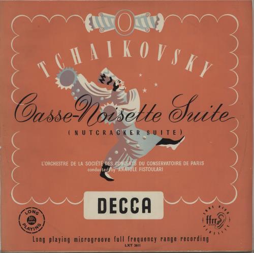 Pyotr Ilyich Tchaikovsky CasseNoisette Suite Op. 71 (The Nutcracker) 1954 UK vinyl LP LXT2611