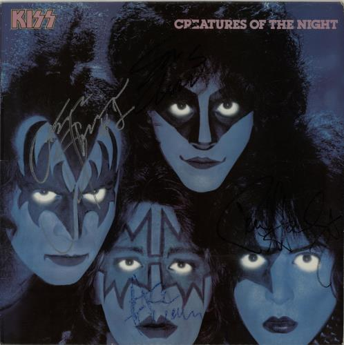Kiss Creatures Of The Night  Autographed 1982 UK vinyl LP CANL4
