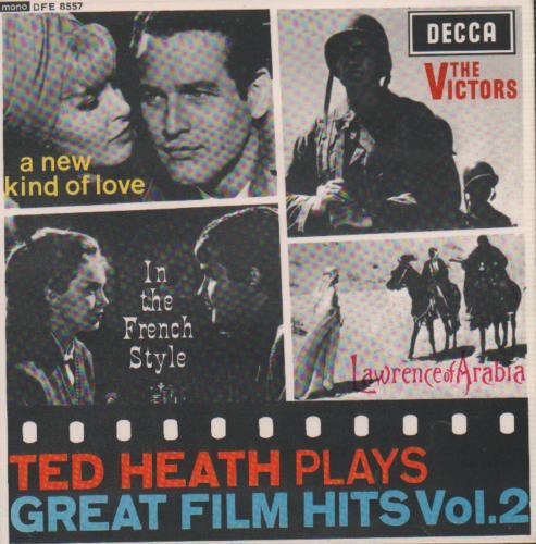 Ted Heath Plays Great Film Hits Vol. 2 EP 1964 UK 7 vinyl DFE8557