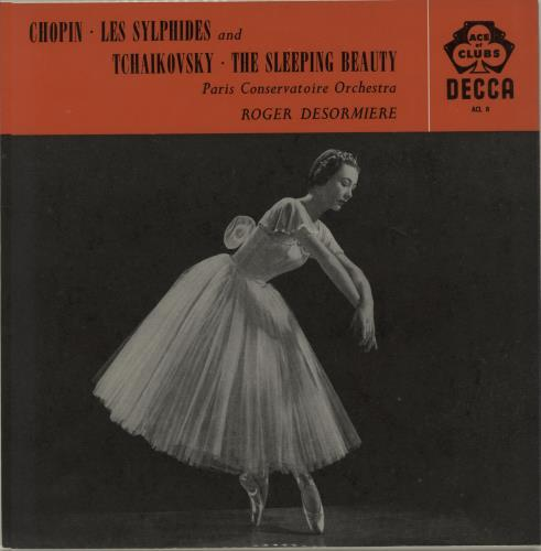 The Paris Conservatoire Orchestra Chopin Les Sylphides  Tchaikovsky The Sleeping Beauty 1960 UK vinyl LP ACL8
