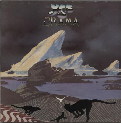 Yes Drama  Tour Programme 1980 UK vinyl LP K50736
