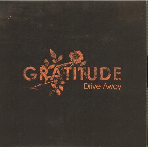 "Image of Gratitude Drive Away - Black Cover 2005 UK 7"" vinyl AT0205"