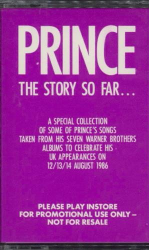 Prince The Story So Far... 1986 UK cassette album PRO446