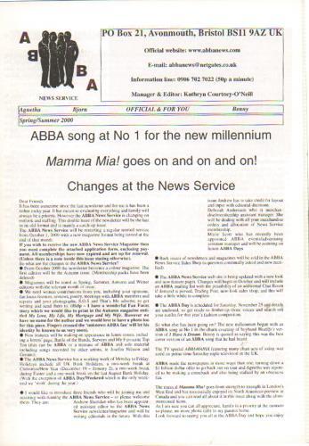 Abba Abba News Service  SpringSummer 2000 2000 UK fanzine