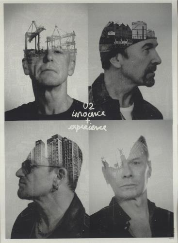 U2 Innocence  Experience  Fanclub Serigraphs 2016 UK poster 23X 17