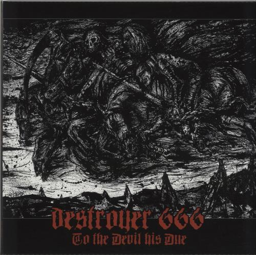 Destroyer 666 - To The Devil His Due - Red Silver Swirl Vinyl