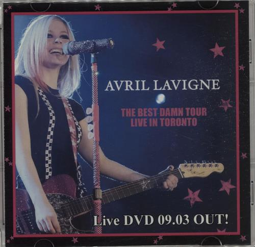 Avril Lavigne The Best Damn Tour Live In Toronto 2008 Japanese promo DVDR DVDR