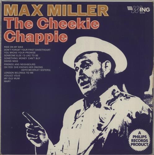 Max Miller The Cheeky Chappie 1968 UK vinyl LP WL1190