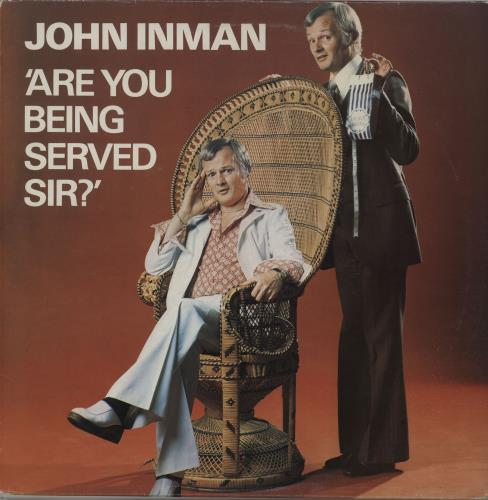 John Inman Are You Being Served Sir  Autographed 1975 UK vinyl LP DJLPS468