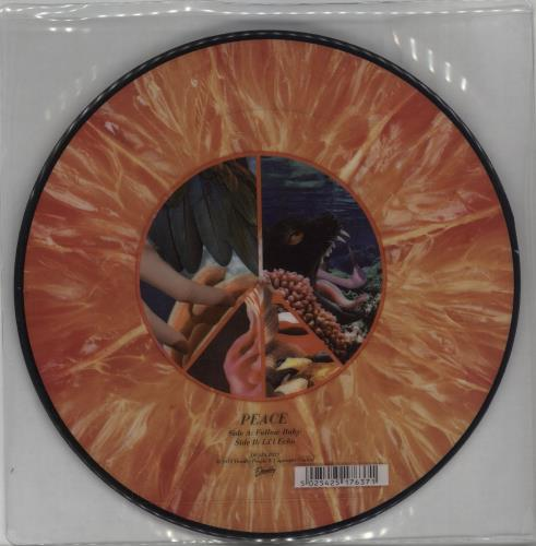 """Image of Peace Follow Baby 2012 UK 7"""" picture disc DEADLY29"""