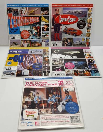Thunderbirds Thunderbirds  Joe 90  Captain Scarlet  Space 1999  The Cass Carnaby Five UK 7 vinyl SIL714001234