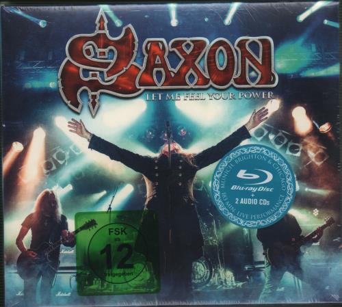 Saxon Let Me Feel Your Power  2CDs  Sealed 2016 German Blu Ray UDR049P16