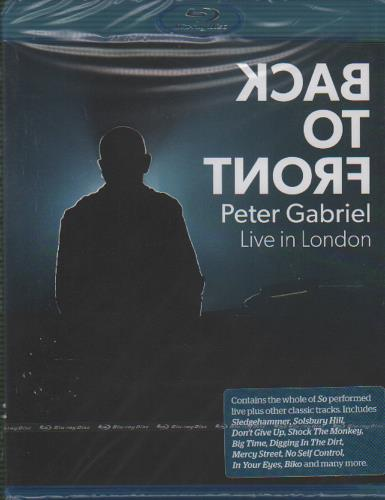 Peter Gabriel Back To Front (Live in London)  Sealed 2014 UK Blu Ray ERBRD5221