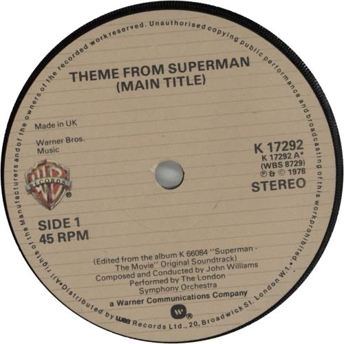 Superman Theme From Superman 1978 UK 7\