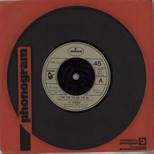 La Bionda - One For You, One For Me Record