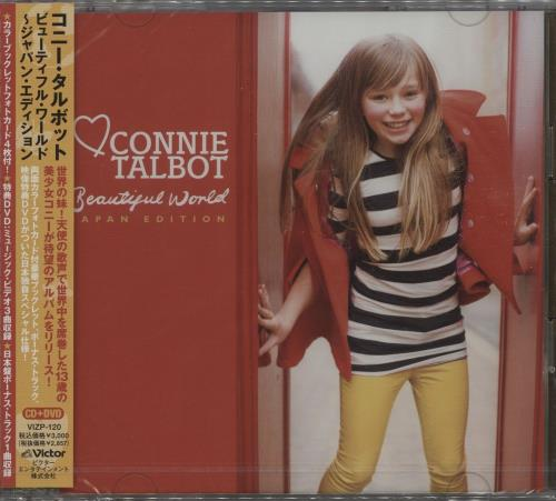 Connie Talbot Beautiful World  Sealed  Obi 2013 Japanese 2disc CDDVD set VIZP120