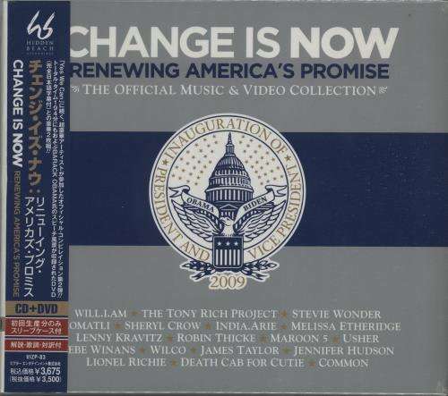 Various Artists Change Is Now Renewing Americas Promise  Sealed  Obi 2009 Japanese 2disc CDDVD set VIZP83