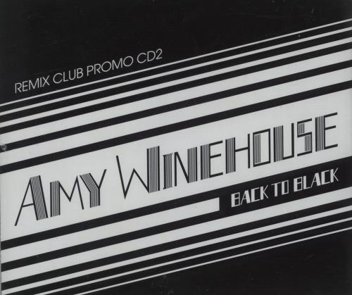 Amy Winehouse Back To Black  Remix Club Promo CD2 2007 UK CD single AMYCDPRO10