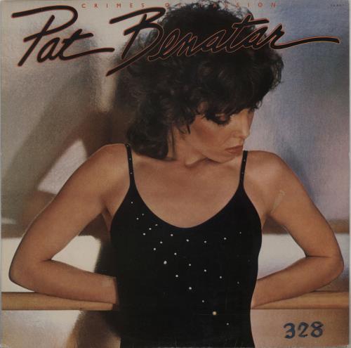 Image of Pat Benatar Crimes Of Passion - Gold Promo Stamped 1980 Brazilian vinyl LP 104.8167