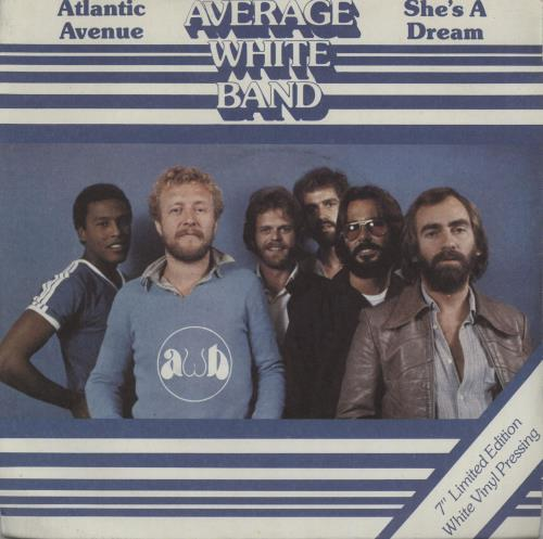 "Image of Average White Band Atlantic Avenue - White vinyl + P/s 1979 UK 7"" vinyl XB1061"