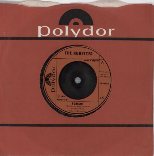 """Image of The Rubettes Tonight 1974 UK 7"""" vinyl 2058499"""