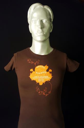 Image of Arctic Monkeys Live at Lancashire Country Cricket Ground Brown 2007 UK t shirt T SHIRT