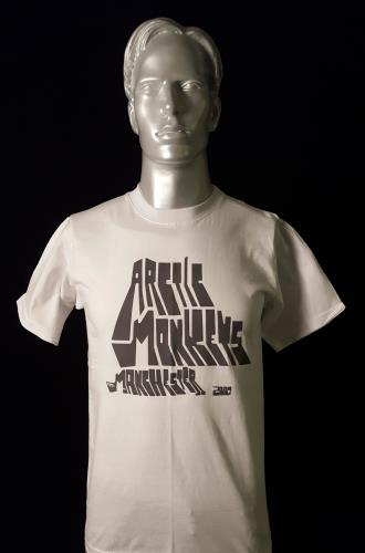 Image of Arctic Monkeys Live at Lancashire Country Cricket Ground - White 2007 UK t-shirt T-SHIRT