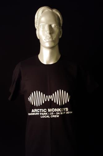 Image of Arctic Monkeys Finsbury Park - Local Crew - Black/Large 2014 UK t-shirt CREW T-SHIRT