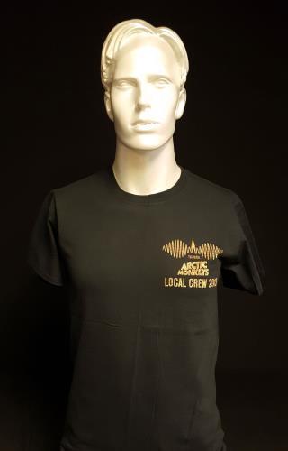Image of Arctic Monkeys 2013 Tour Local Crew Black/Large 2013 UK t shirt CREW T SHIRT