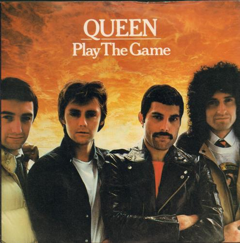 "Image of Queen Play The Game - White label design + p/s 1980 UK 7"" vinyl EMI5076"