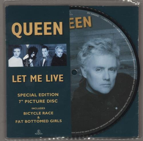 Queen Let Me Live 1996 UK 7 picture disc QUEENPD24