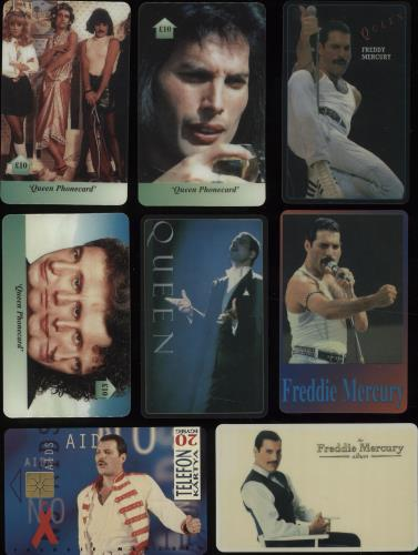 Image of Queen Quantity of Eight Phone Cards UK phone card 8 PHONE CARDS