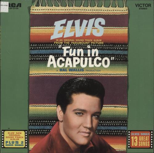 Elvis Presley Fun In Acapulco - Black Label 1977 USA vinyl LP LSP-2756