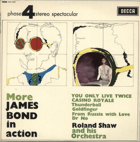 James Bond More James Bond In Action 1967 UK vinyl LP PFS4125